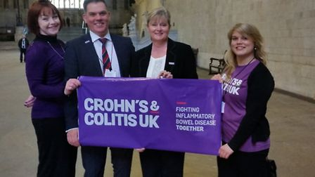 The treatment of Crohn's and Colitis sufferers in England was debated at Westminster. Pictured from