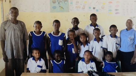 Children in the deaf classroom built in Gambia by Kadect charity