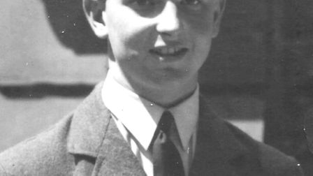 Geoff Gledhill in RAF uniform after gaining his wings to fly shortly before the Battle of Britain