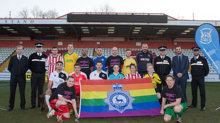 Football clubs in Herts have joined forces with the police to tackle homophobia, by taking part in S