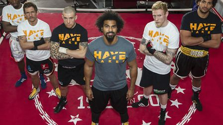 London Colney's Ollie Pattison will form part of the undercard at Haye Day II. Left to right - Kay P
