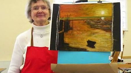 Margaret, pictured here at an arts society workshop, was a much loved member of the creative communi