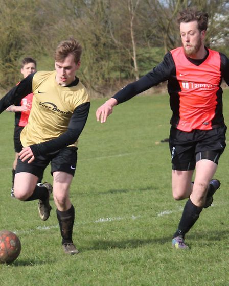 Action from Chequers Inn and Church End