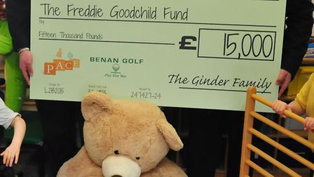 Adam and Daniel Ginder of St Albans have been 'relentless' in their fundraising effort for Freddie G