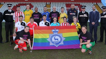 Police football homophobia campaign launch