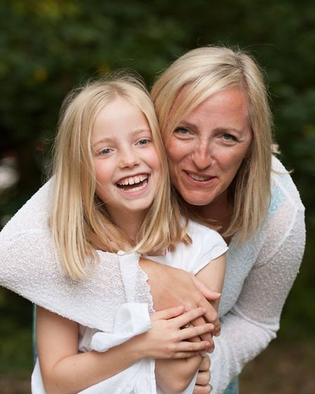 St Albans mum Helen Wills with her daughter Maddie, who has Type 1 diabetes. Photo by Stephanie Belt