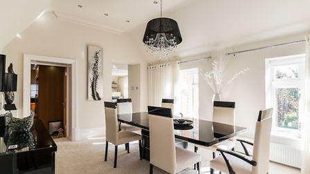 Dine in style in this luxury apartment
