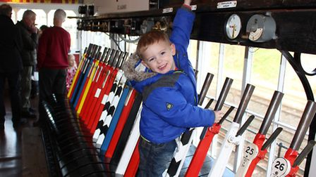Eddy with the bells and whistles at St Albans South signal box