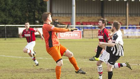 Ben Seymour-Shove opens the scoring for St Ives in their victory against Petersfield last Saturday.