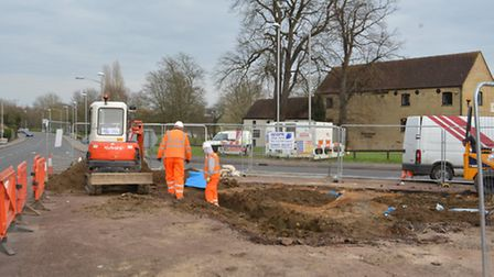 Bones found by contractors working on the ring road, in Huntingdon.
