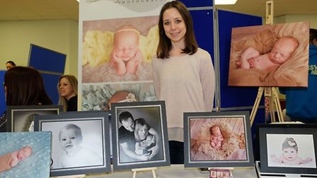 Marie Richards of Baby Whispers photography at Royston Baby Show