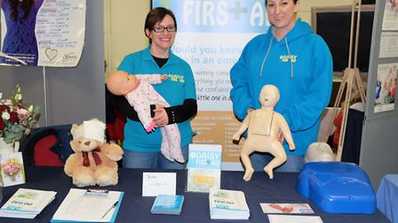Julie Jollyman and Clare Watson of Daisy First Aid at Royston Baby Show