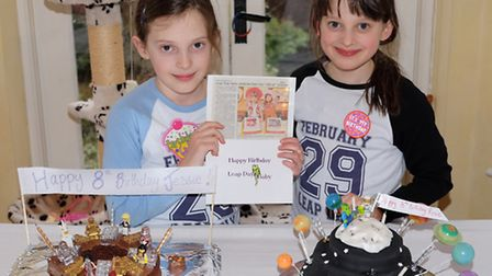 Twins Jessie and Rosie Nelson celebrate their birthday on February the 29th with the Herts Advertise