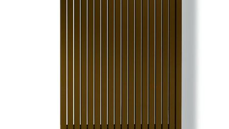 Carre vertical radiator in bronze, £982, including towel rail, available from Vasco (PA Photo/Hando