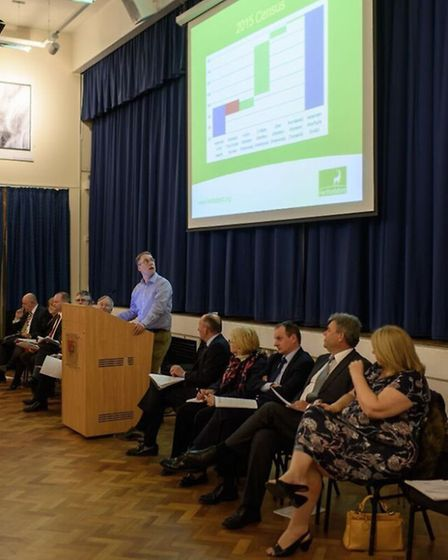 Two hundred people attended a meeting on the proposed secondary school for Harpenden