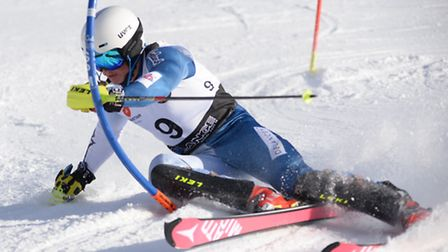 Harpenden skier Max Baggio had an up and down time at the English alpine championships in bormio, It