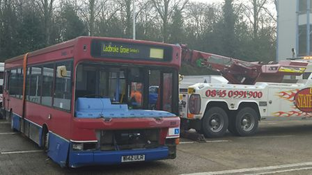 Two buses were kindly donated to the Herts Fire Service by Mullanys Coaches