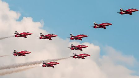 The Red Arrows in formation (Pic: Gerry Weatherhead)