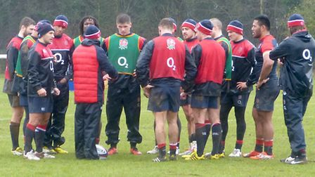 England rugby team training, including Owen Farrell, in Bath. Picture courtesy of Matchtight