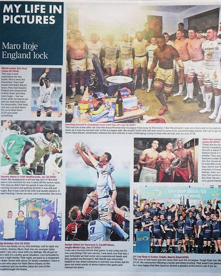 Maro Itoje in The Times
