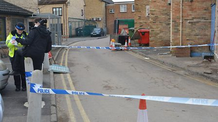 A cordon was put in place in High Street.