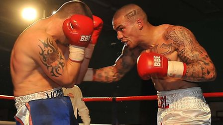 Karl Wheeler (right) claimed title glory last night. Picture: DAVID LOWNDES/PETERBOROUGH PRESS & PR