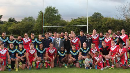 The British Army and the Centurions after a game last year. Picture: DARRYL BROWN