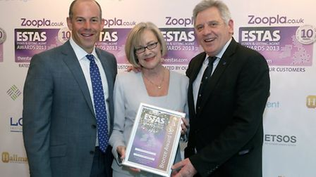 Martin & Co were presented an award by celebrity property expert Phil Spencer at the 2013 Estate Age