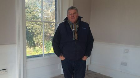 Martin Jackson, managing director of Beechdale Homes, in one of the bedrooms.
