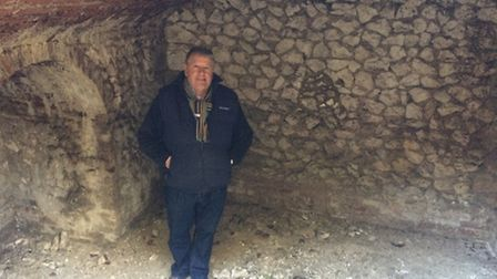 Martin Jackson, managing director of Beechdale Homes, in the ice house.