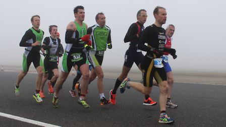 St Neots NiceTri competitors Kyle Chesterman, Scott Thomas, Paul Ridley, Kye Liddle and Brad Edwards