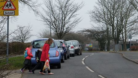 Parking outside Sauncey Wood primary school is causing concern for children's safety
