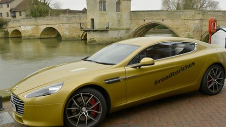 The gold Aston Martin was in St Ives last Friday.