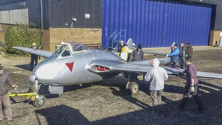 Work is beginning at the deHavilland museum in London Colney - photo courtesy of Gary Lakin