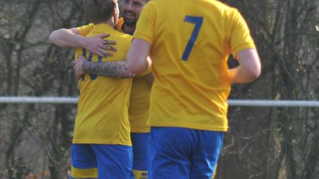 Jimmy Hill and Harry Hunt scored as Harpenden raced into a two-goal lead against Edgware Town. Pictu