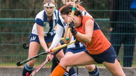 Emma O'Nien scored twice as St Albans drew 3-3 with Hampstead and Westminster. Picture: CHRIS HOBSON