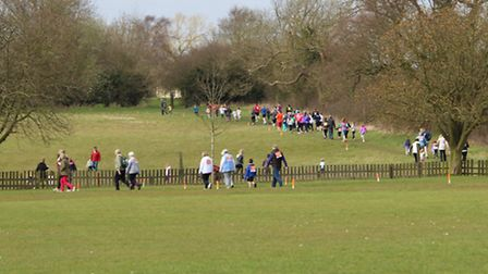Participants joining in the fun at the Sports Relief Mile