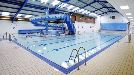 The 25 metre pool in St Neots has a slide and shallow lagoon which is ideal for families