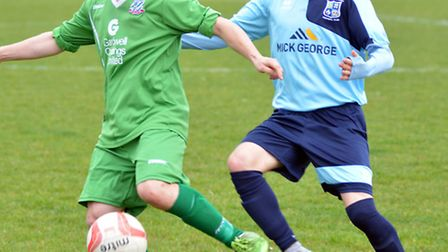 Simon Unwin (right) is a doubt for Godmanchester Rovers' big semi-final.
