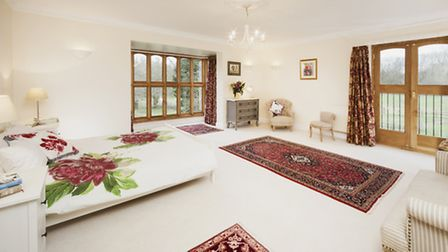 The master bedroom suite at Ayot Chase
