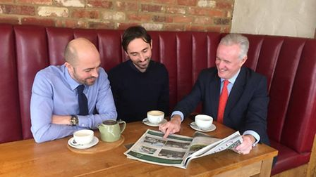 Perusing the Herts Ad Property section with Jack & Tom Smith and Adam Golder