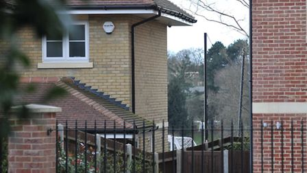 The netting at the back of Jack Wilshere's property as seen from the front of the house