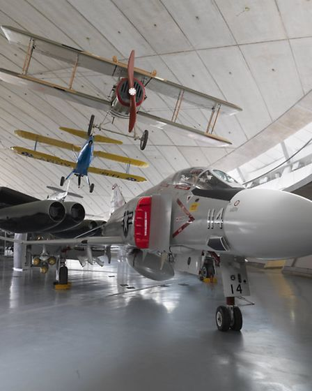 General view of the American Air Museum at IWM Duxford, prior to the reopening on Saturday. PICTURE: