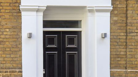 The more traditional tone of front door Bright front doors are an eye-catching feature to any home (