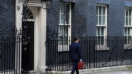 Chancellor of the Exchequer George Osborne leaves 11 Downing Street, London, before heading to the H