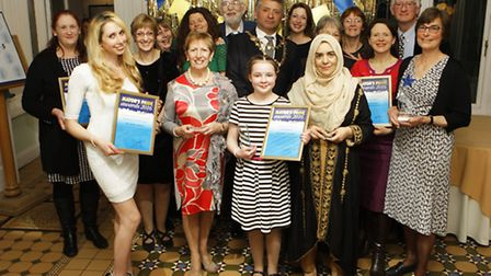The Mayor of St Albans with all the winners of the Mayors Pride Awards 2016