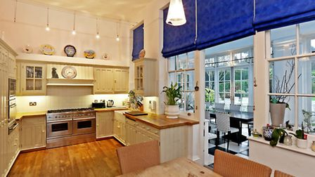 The kitchen inside Northaw Place