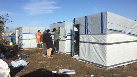 Some of the shelters Benedict helped to construct