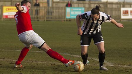 Danny Watson hit a late leveller for St Ives Town. Picture: LOUISE THOMPSON