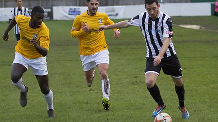 Phil Draycott came off the bench to hit St Ives Town's clincher at Uxbridge. Picture: LOUISE THOMPSO